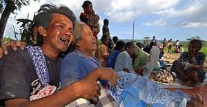 Villagers mourn eartquake victims in Bantul, Yogyakarta