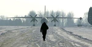 A Romanian airfield. The country is suspected of having a secret detention centre. Photograph: Bogdan Cristel/Reuters