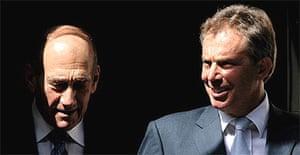 Ehud Olmert and Tony Blair
