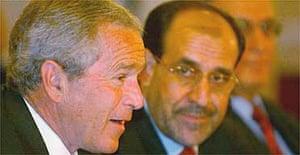 George Bush and Nuri al-Maliki