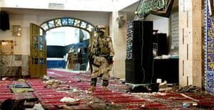 The Baratha mosque in Baghdad after a suicide attack