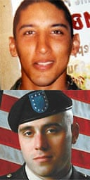 Private Kristian Menchaca (above) and Private Thomas Tucker
