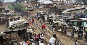 David Levene in Kibera