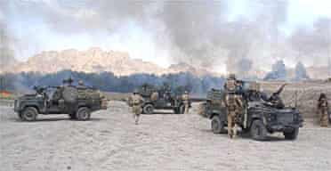 Soldiers of 3 Para in a six-hour firefight near Nazwad, southern Afghanistan, which left 21 militants dead. Photograph: AFP