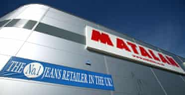 Matalan's discount warehouse store in Derby.