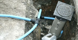 Thames Water pipe replacement work in London