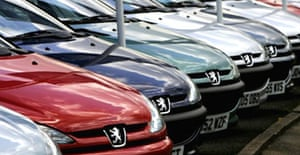 New Peugeot vehicles for sale near the company's Ryton plant