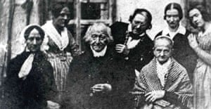 A photograph taken in October 1840 shows Mozart's widow, Constanze (front l). Photograph: Ho Stadt Altoetting/AFP/Getty Images