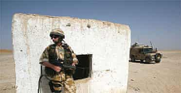 British soldiers on patrol on the northern edge of Lashkar Gah, capital of Helmand province, southern Afghanistan