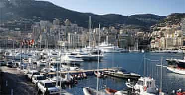 Monaco harbour. Photograph: David Levene