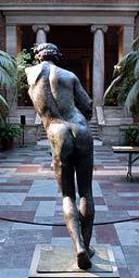 Life-size bronze sculpture of Apollo Sauroktonos
