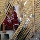 A displaced Iraqi Shia girl at a refugee camp east of Baghdad.