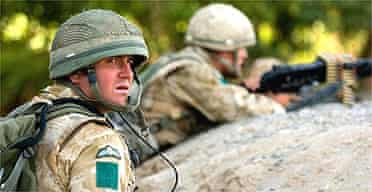 British soldiers on patrol in Sangin, Helmand province