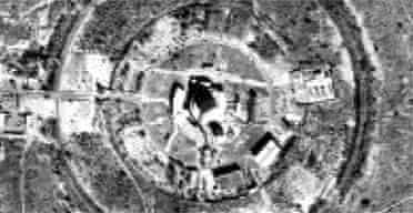 A satellite image showing Pakistan's Khushab plutonium production reactor