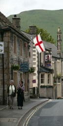 Don McPhee An England flag flies from the gift shop in the village of Castleton in the Peak District.
