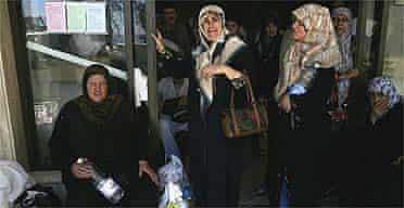 Refugees at Tibnin hospital in Lebanon