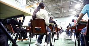 Pupils taking school examinations