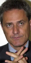 Italy's deputy prime minister, Francesco Rutelli. Photograph: AP