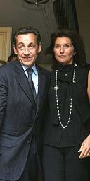 Nicolas Sarkozy with his wife, Cecilia