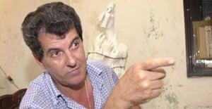 Cuban dissident Osvaldo Paya. Photograph: Cristobal Herrera/AP.