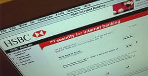 Security page for HSBC internet banking