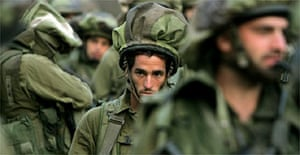 An Israeli unit in southern Lebanon. Photograph: Muhammed MuheisenAP