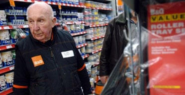 Elderly worker Sid Prior