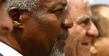 UN secretary general Kofi Annan and Lebanese foreign minister Fawzi Salloukh