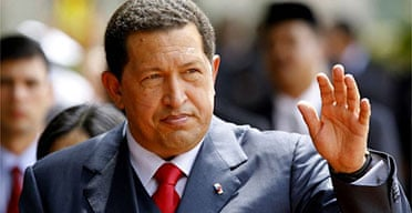 The Venezuelan president, Hugo Chávez. Photograph: Tengku Bahar/AFP/Getty