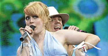 The Scissor Sisters, one of the top five downloaded artists, perform in Hyde Park