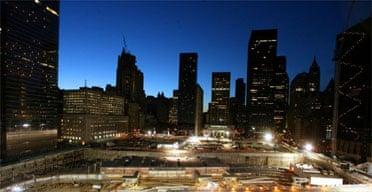 Dawn breaks over ground zero on September 11 2006