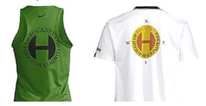 The Nike logo (left) and the original Hackney council logo (right).