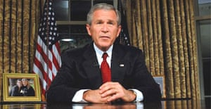 George Bush makes a TV speech on the fifth anniversary of the 9/11 attacks. Photograph: Roger L Wollenberg/EPA