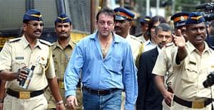 Bollywood actor Sanjay Dutt leaves court in Mumbai