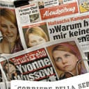 Newspaper front-pages carry the picture of Natascha Kampusch after her television interview