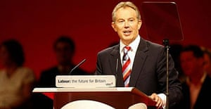 Tony Blair speaks at the Labour party conference 2006