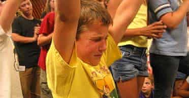 American child at the Kids on Fire Pentecostal summer camp