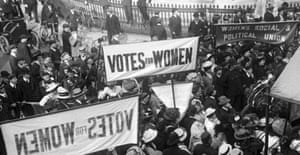 A suffragette protest in London
