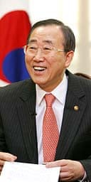 South Korean foreign minister Ban Ki-Moon, favourite to succeed Kofi Annan at the UN