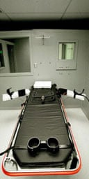 The execution chamber at Oregon state penitentiary
