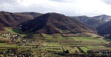 The site in Visoko, Bosnia, which Semir Osmanagic claims is home to Europe's only pyramids