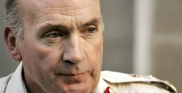 Chief of the general staff, Sir Richard Dannatt, gives media interviews at the Ministry of Defence