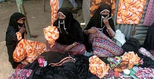 Women return to work in Kassala, eastern Sudan, after a state of emergency was lifted