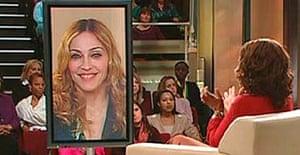 Madonna on the Oprah Winfrey Show