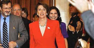 Democrat representative Nancy Pelosi at Capitol Hill.