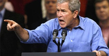 George Bush speaks at a midterm rally in Missouri