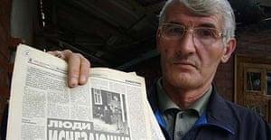 Astemir Murdalov, whose son, Zelimkhan, disappeared in Grozny in January 2001