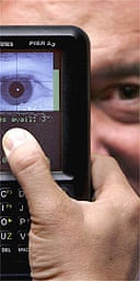 Iris recognition scanner