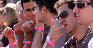 Participants at Jerusalem's Gay Pride rally