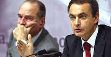 Jacques Chirac and Rodriguez Zapatero